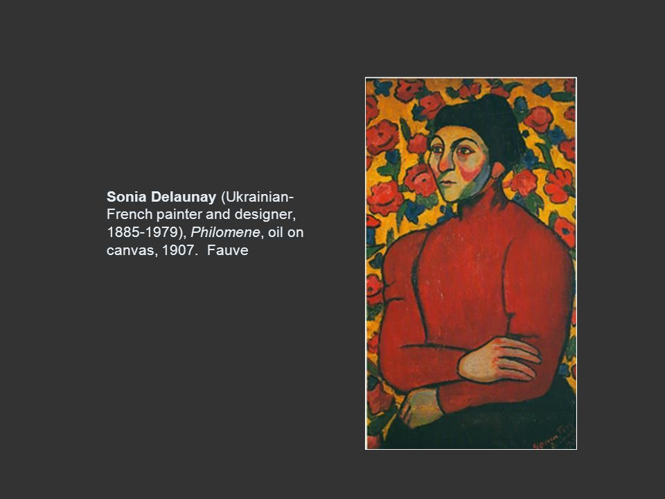 Sonia Delaunay (Ukrainian-French painter and designer, 1885-1979), Philomene, oil on canvas, 1907.