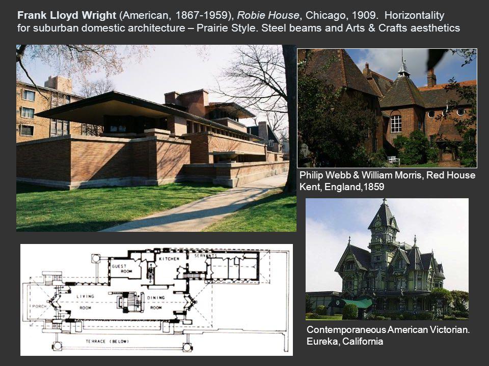 Frank Lloyd Wright (American, 1867-1959), Robie House, Chicago, 1909