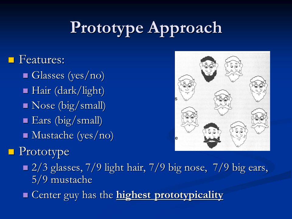 Prototype Approach Features: Prototype Glasses (yes/no)