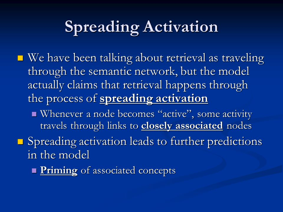 Spreading Activation