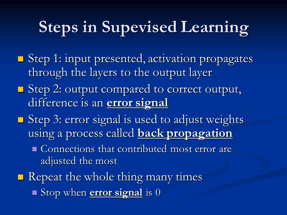 Steps in Supevised Learning