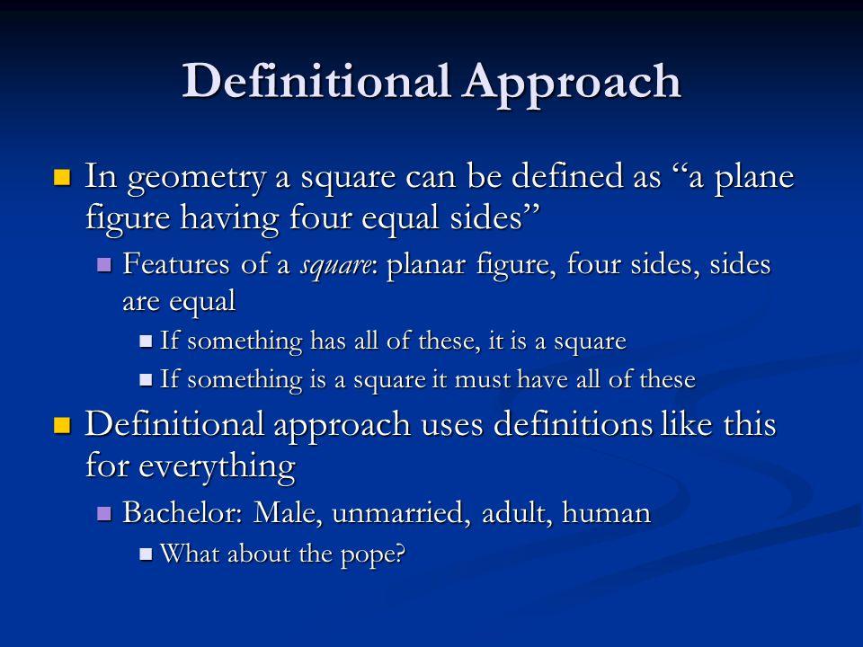 Definitional Approach