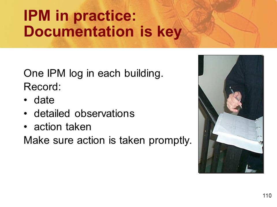 IPM in practice: Documentation is key
