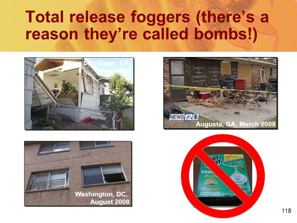 Total release foggers (there's a reason they're called bombs!)
