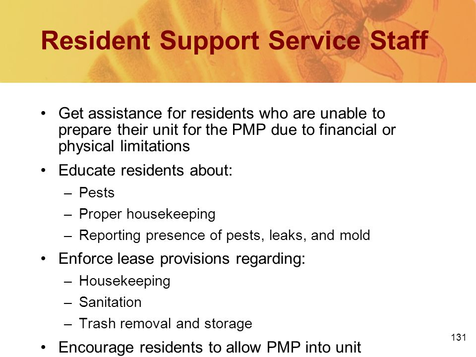 Resident Support Service Staff