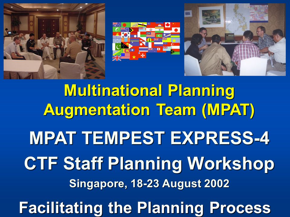 MPAT TEMPEST EXPRESS-4 CTF Staff Planning Workshop