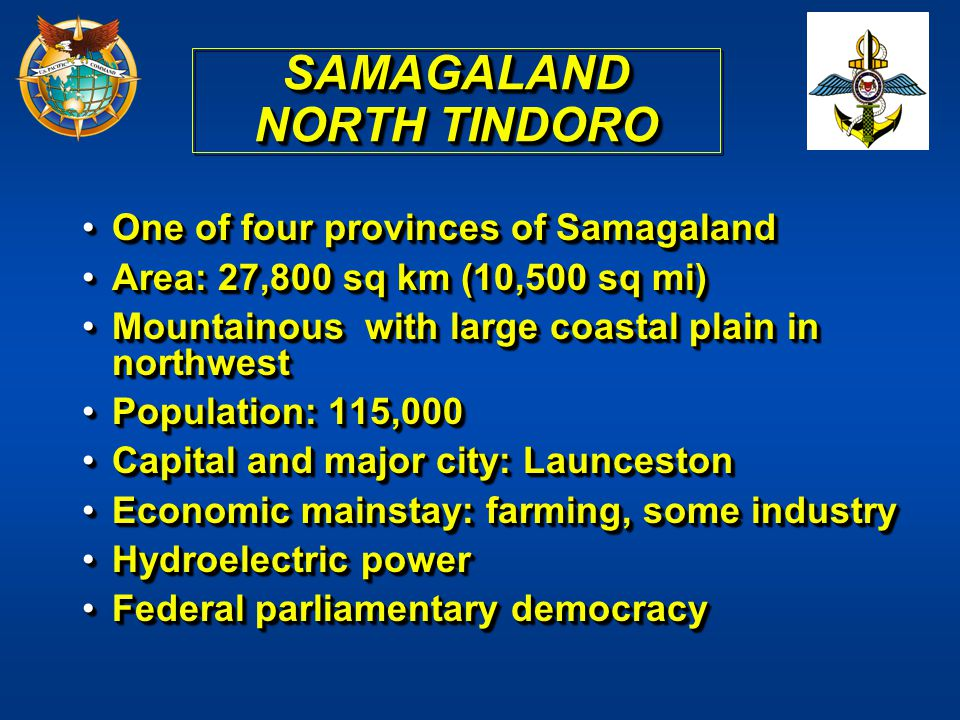 SAMAGALAND NORTH TINDORO