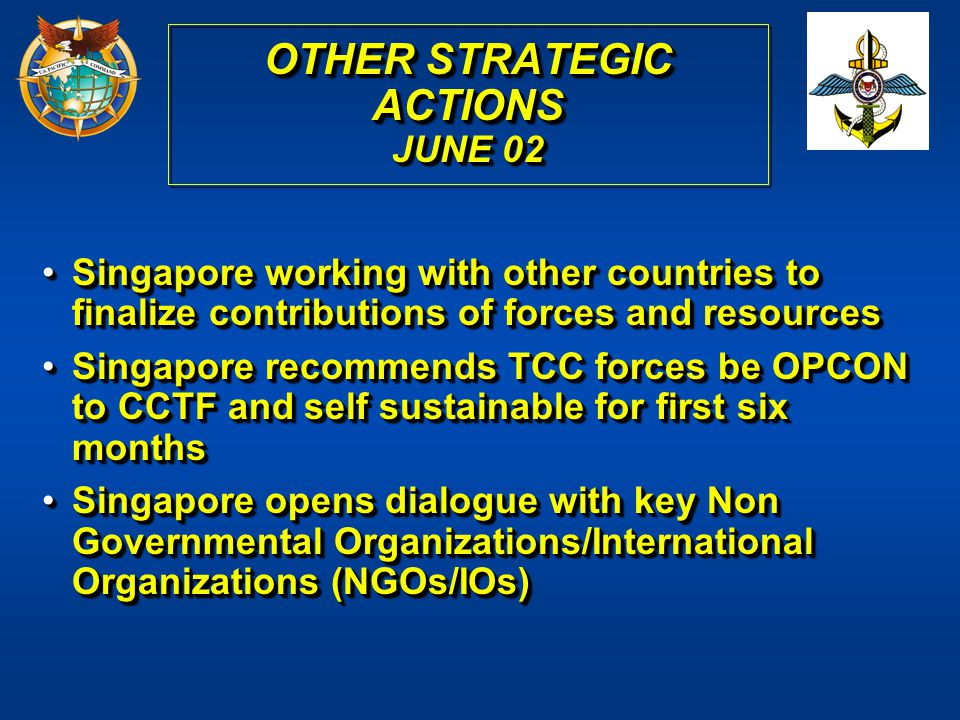 OTHER STRATEGIC ACTIONS JUNE 02