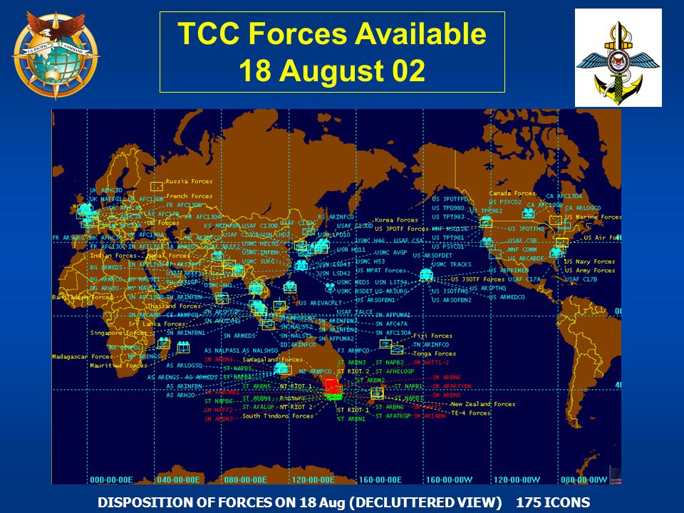 TCC Forces Available 18 August 02