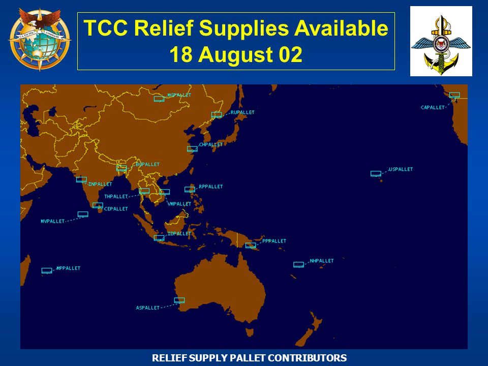 TCC Relief Supplies Available 18 August 02