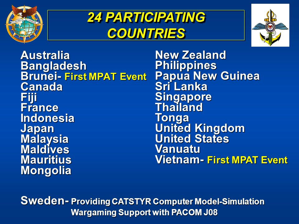 24 PARTICIPATING COUNTRIES