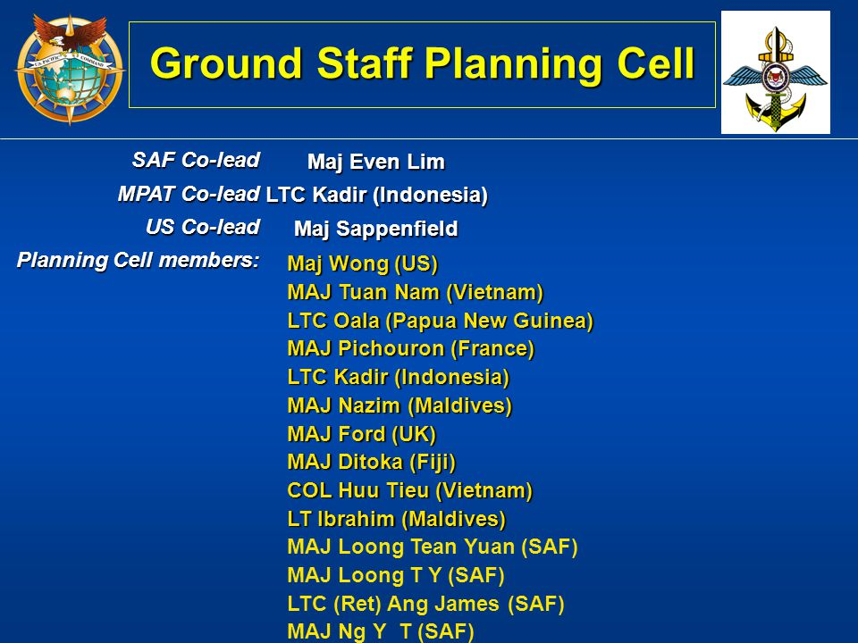 Ground Staff Planning Cell