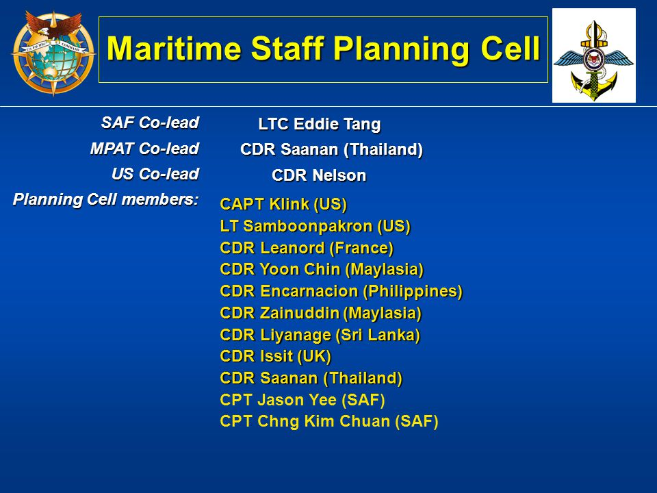 Maritime Staff Planning Cell