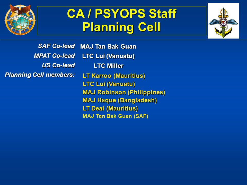 CA / PSYOPS Staff Planning Cell
