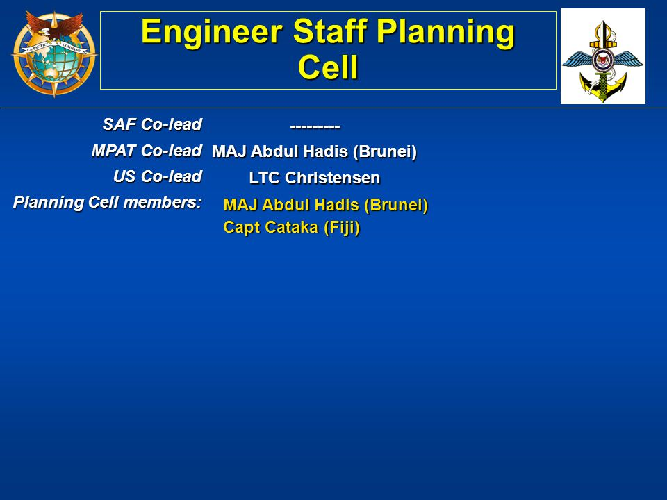 Engineer Staff Planning Cell MAJ Abdul Hadis (Brunei)