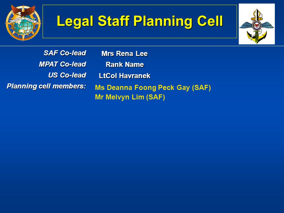 Legal Staff Planning Cell