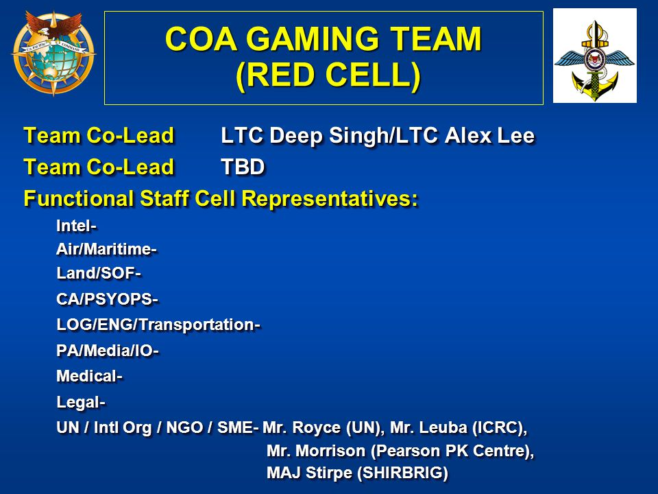 COA GAMING TEAM (RED CELL)