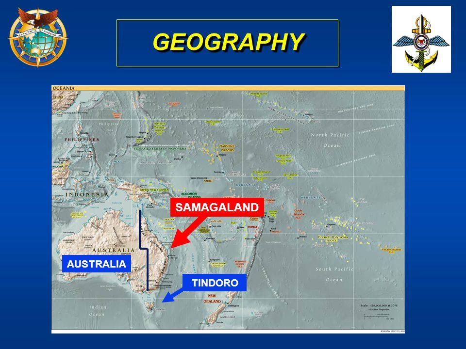 GEOGRAPHY SAMAGALAND AUSTRALIA TINDORO