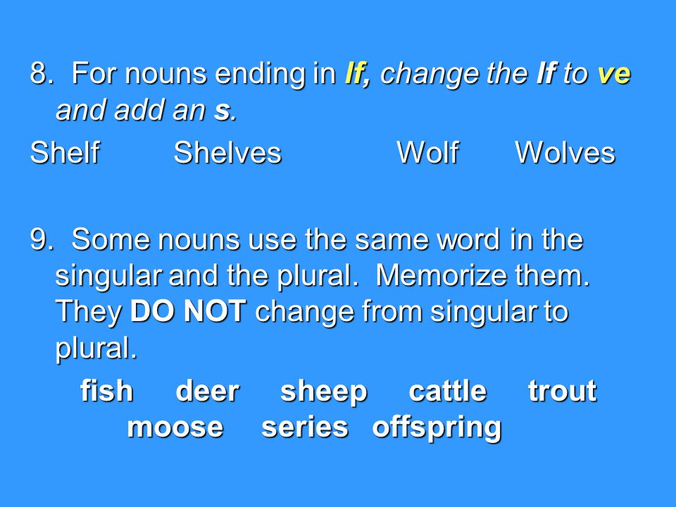 fish deer sheep cattle trout moose series offspring