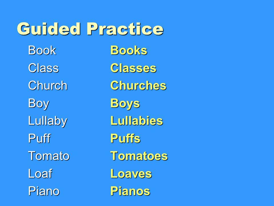 Guided Practice Book Books Class Classes Church Churches Boy Boys