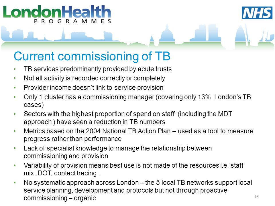 Current commissioning of TB