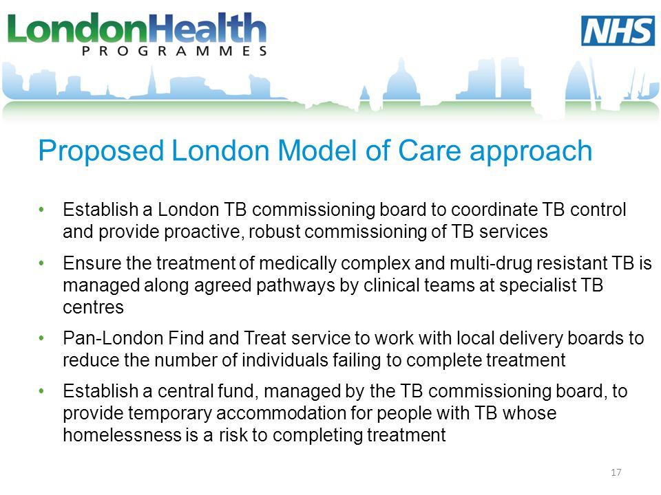 Proposed London Model of Care approach