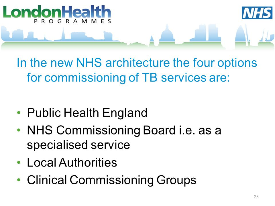 NHS Commissioning Board i.e. as a specialised service