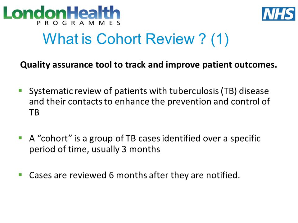 What is Cohort Review (1)