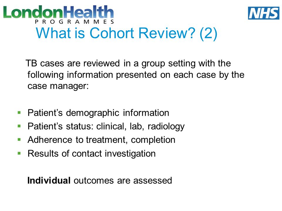 What is Cohort Review (2)