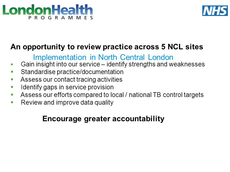 Implementation in North Central London