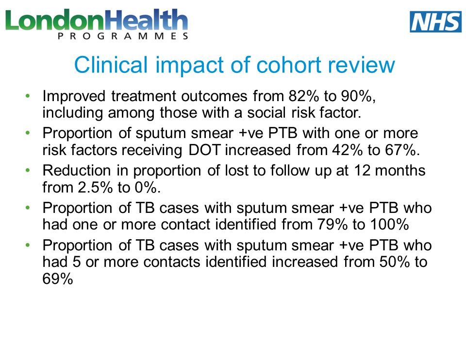 Clinical impact of cohort review