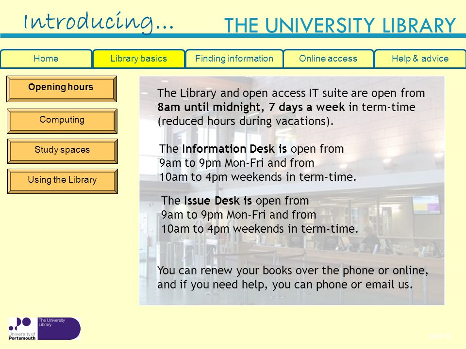 Introducing… The Library and open access IT suite are open from