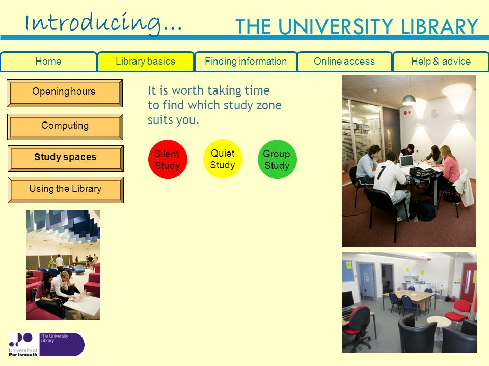 Introducing… It is worth taking time to find which study zone