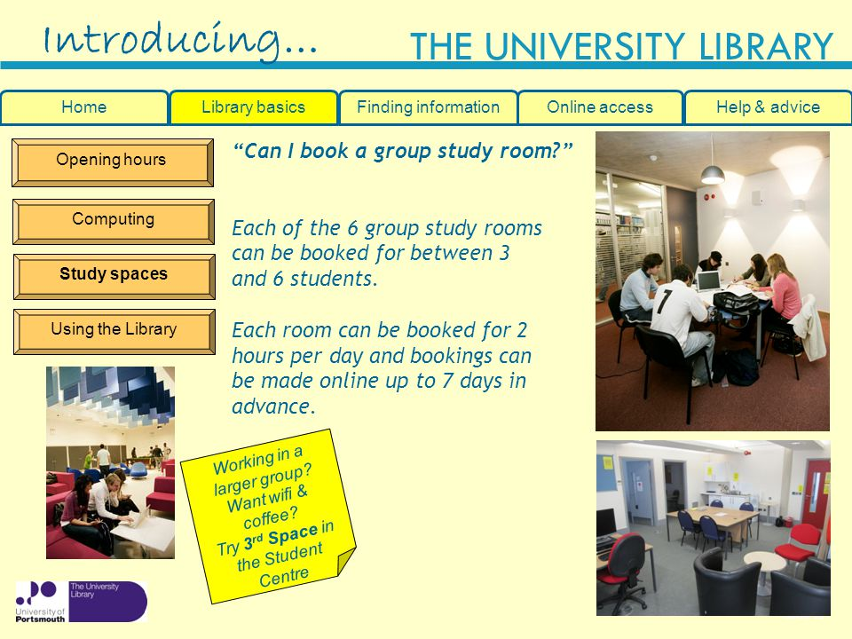 Introducing… Can I book a group study room