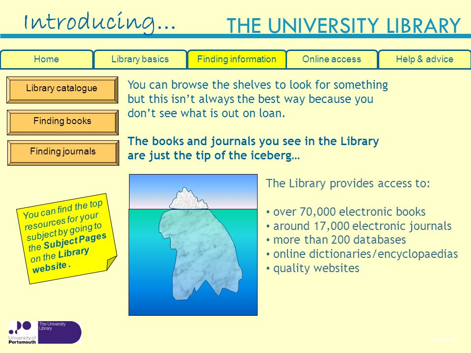Introducing… You can browse the shelves to look for something