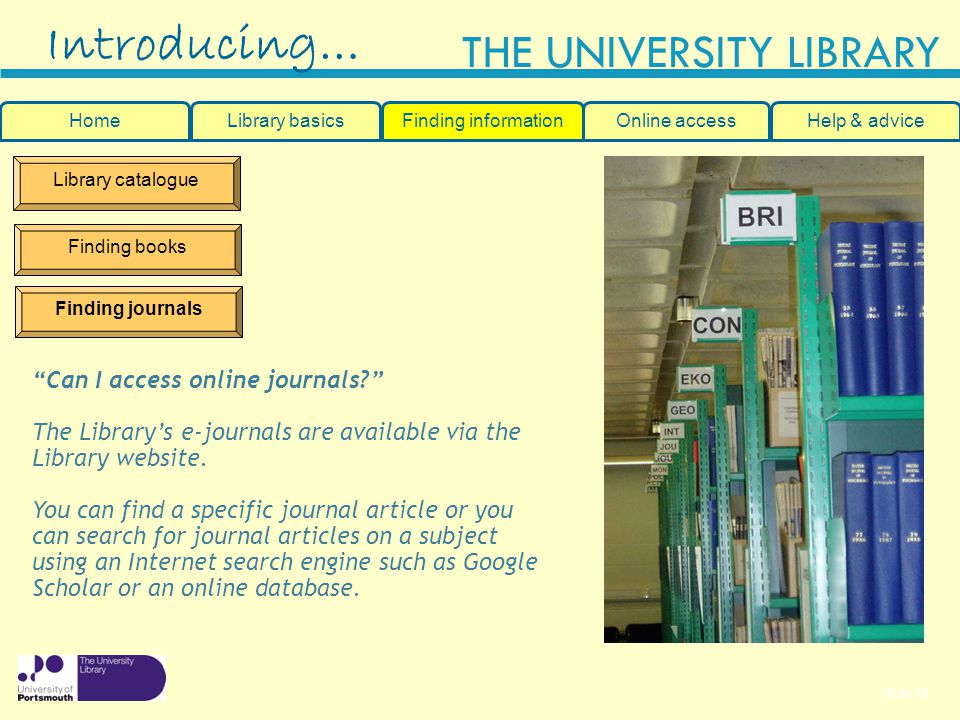 Introducing… Can I access online journals