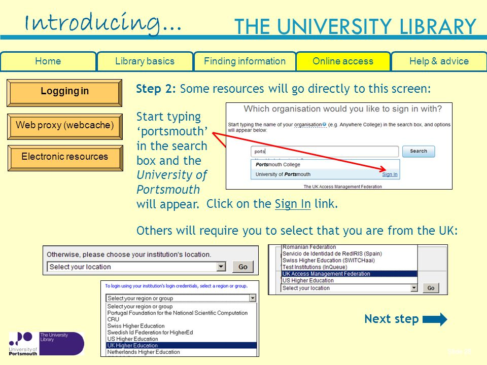 Introducing… Step 2: Some resources will go directly to this screen:
