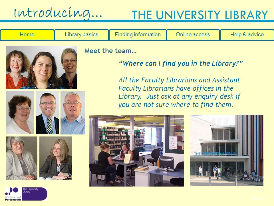Introducing… Meet the team… Where can I find you in the Library