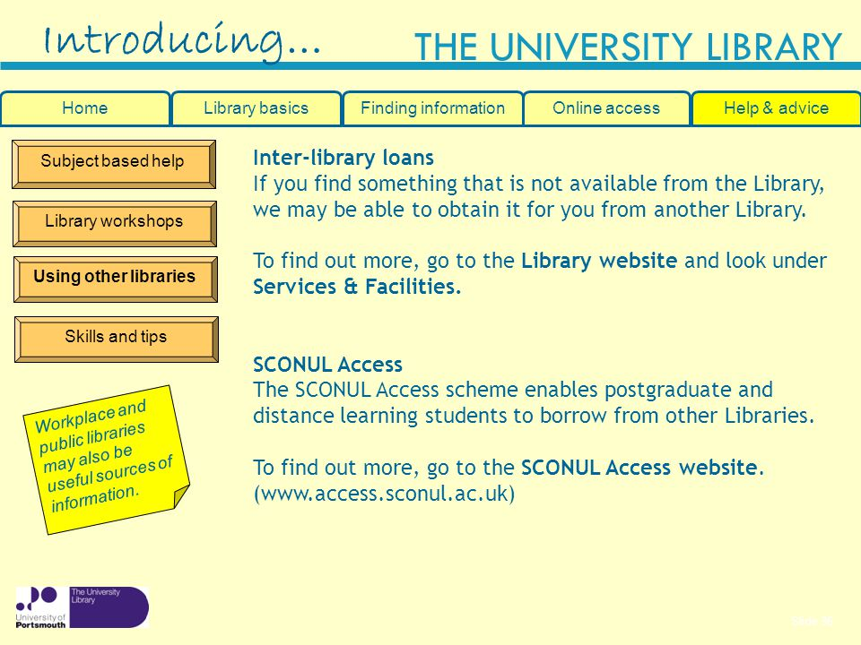 Introducing… Inter-library loans