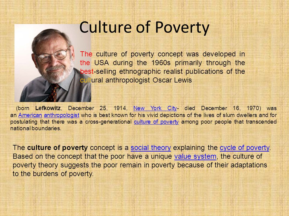 Culture of Poverty