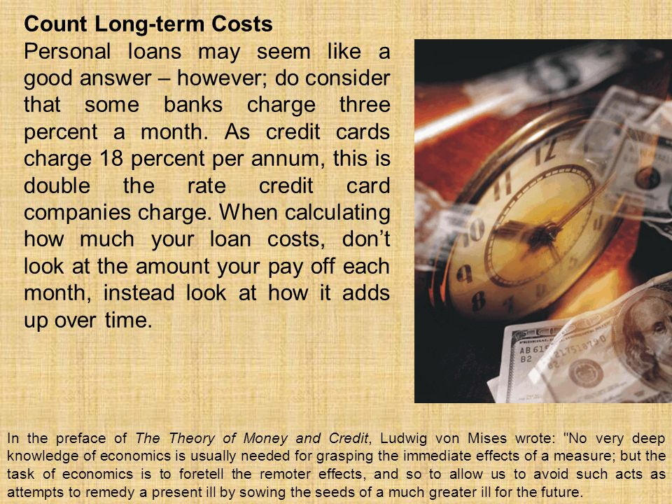 Count Long-term Costs