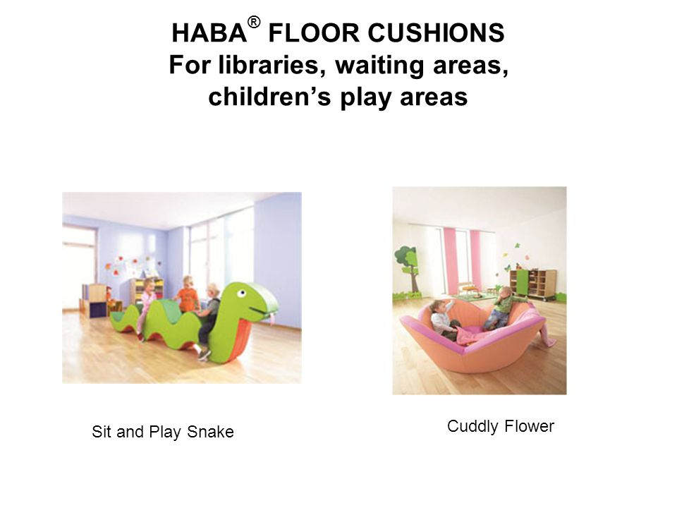 HABA® FLOOR CUSHIONS For libraries, waiting areas, children's play areas