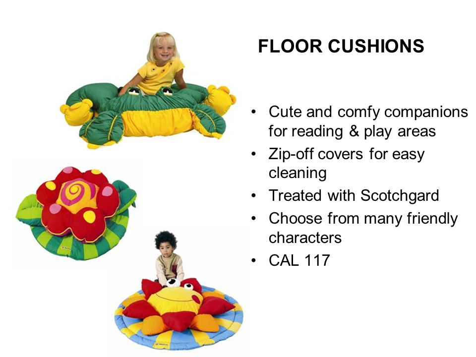 FLOOR CUSHIONS Cute and comfy companions for reading & play areas