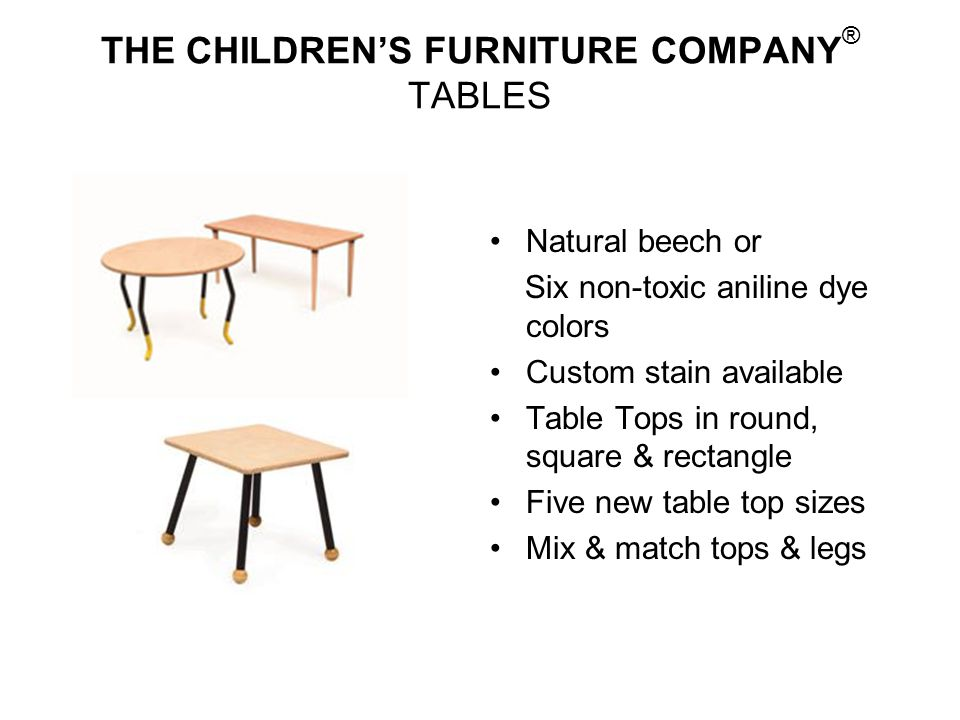 THE CHILDREN'S FURNITURE COMPANY® TABLES