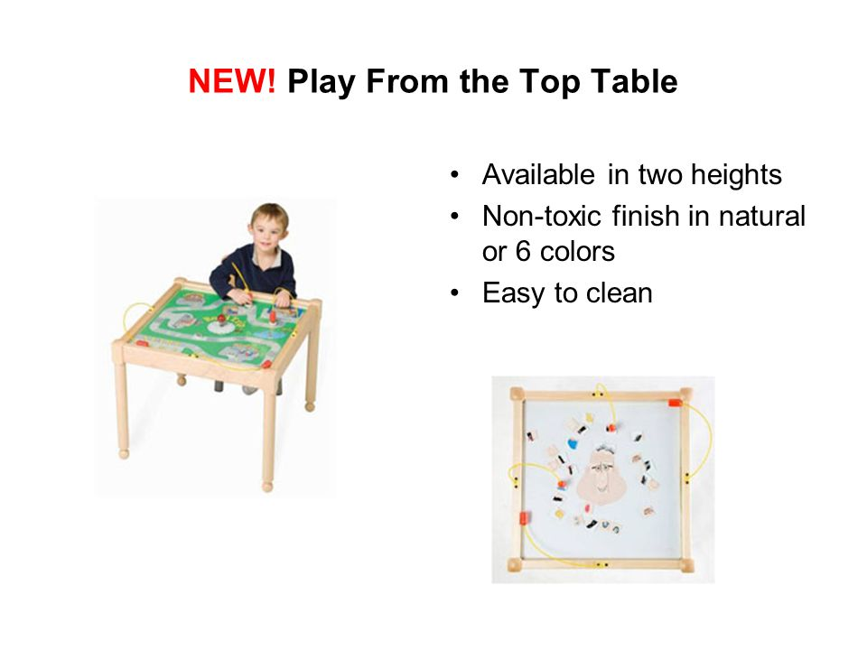 NEW! Play From the Top Table