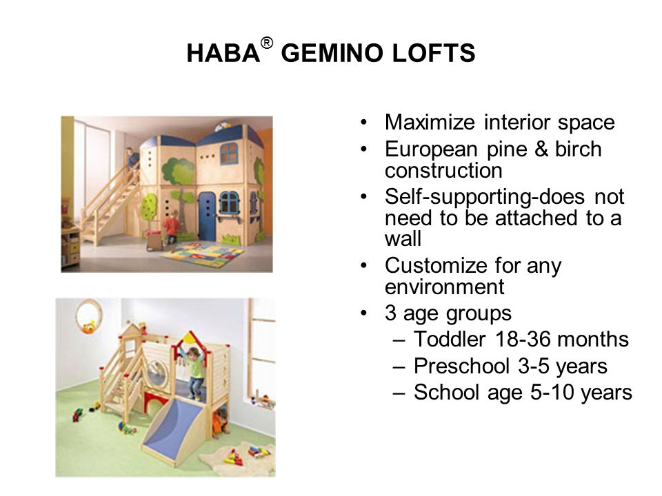 HABA® GEMINO LOFTS Maximize interior space