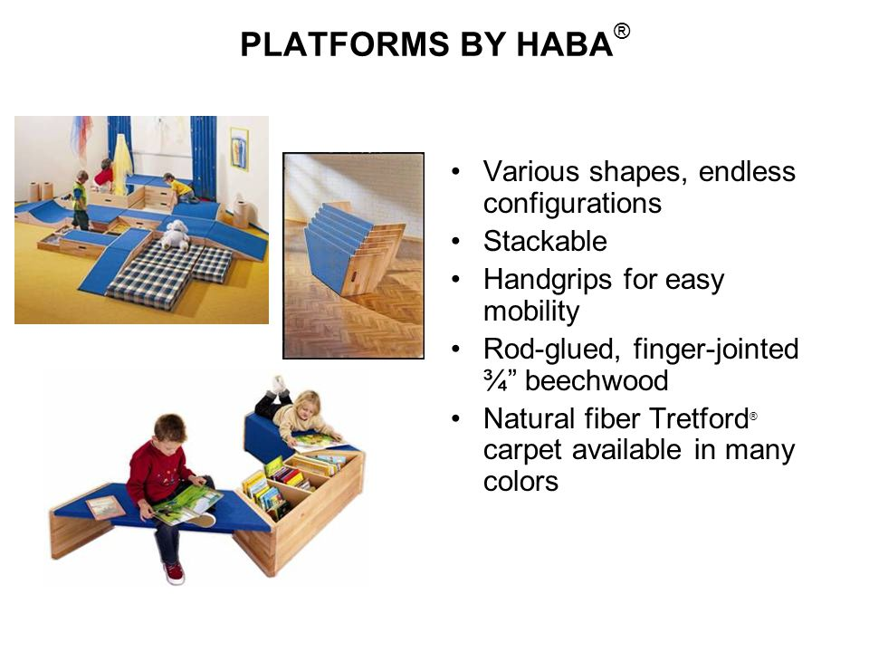 PLATFORMS BY HABA® Various shapes, endless configurations Stackable