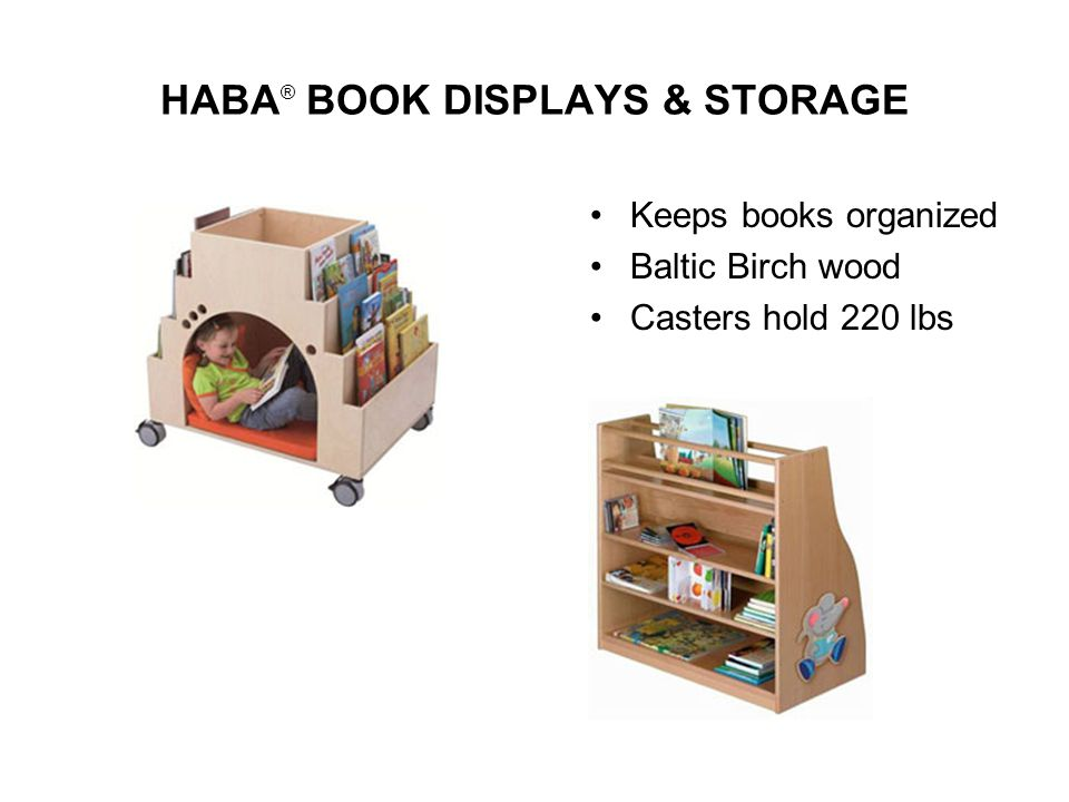 HABA® BOOK DISPLAYS & STORAGE