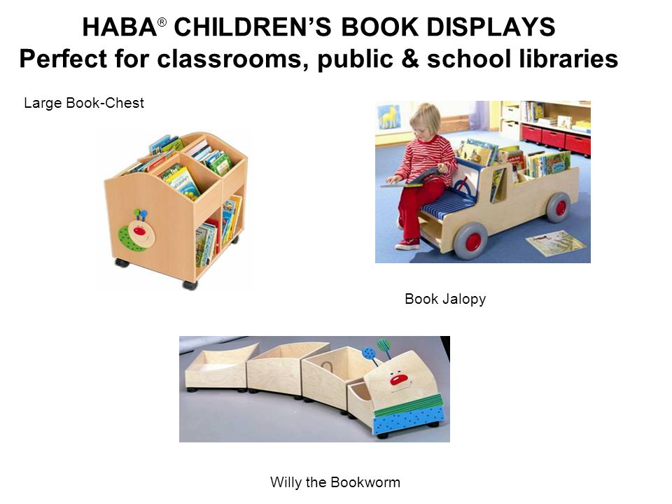 HABA® CHILDREN'S BOOK DISPLAYS Perfect for classrooms, public & school libraries