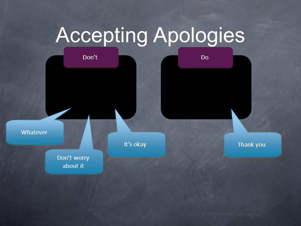 Accepting Apologies Don't Do